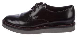 Tod's Leather Round-Toe Oxfords