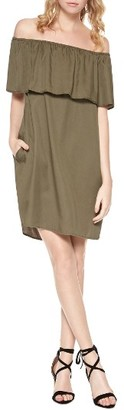 Women's Sanctuary Stella Off The Shoulder Shift Dress $129 thestylecure.com