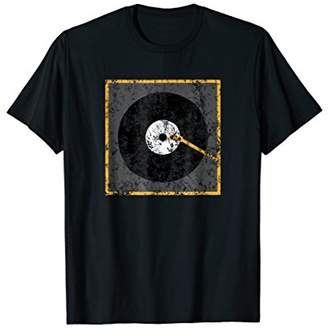 Vinyl Junkie Shirt Music Lover T-Shirt Old Record Player Tee