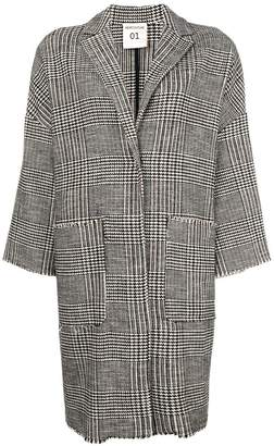 Semi-Couture Semicouture oversize checked coat