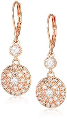 Anne Klein Classics Gold Stone Leverback Drop Earring