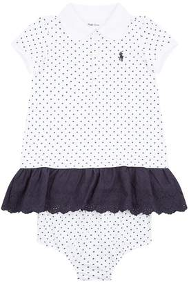 Polo Ralph Lauren Polka Dot Polo Dress with Bloomers