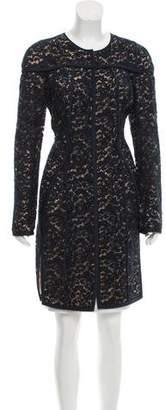 J. Mendel Collarless Lace Coat