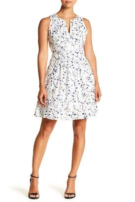 Cynthia Steffe CeCe by Graceful Floral Pintuck Dress