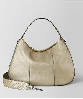 Bottega Veneta Large City Veneta In Metallic Calf