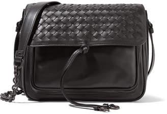 Bottega Veneta - Saddle Small Intrecciato Leather Shoulder Bag - Black $2,150 thestylecure.com