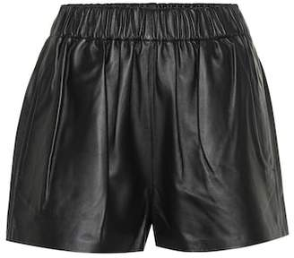 Tibi Tissue leather shorts