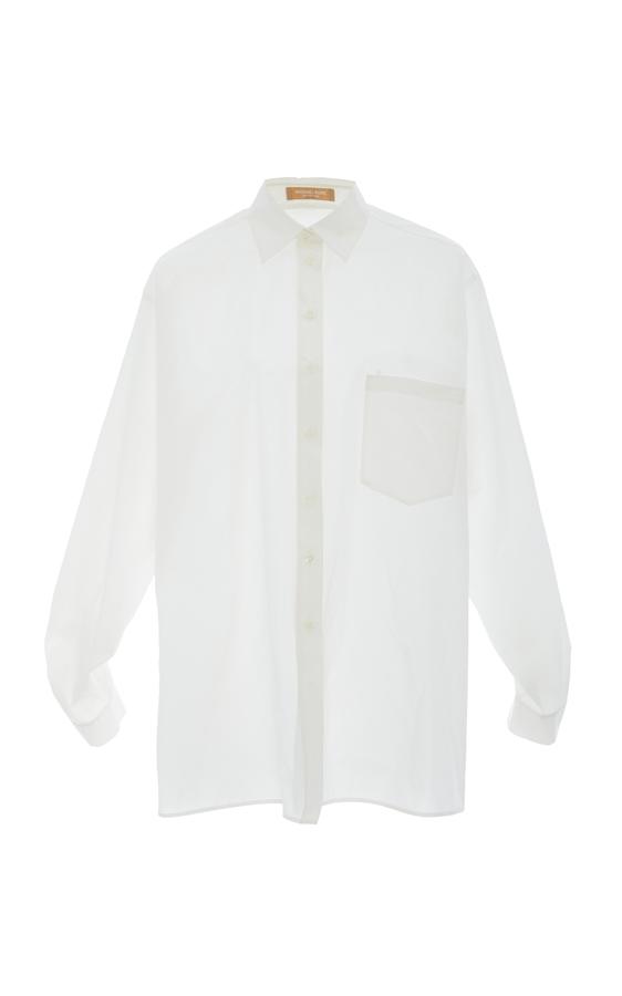 Michael Kors Collection Silk Button Up Shirt