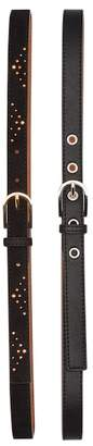 Anne Klein Faux Leather Belts - Pack of 2