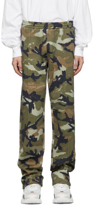 Valentino Green Camo Art Lounge Pants