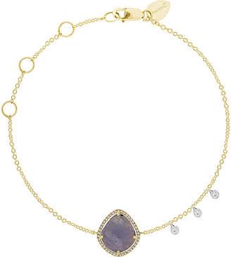 Meira T 14K Two-Tone 2.66 Ct. Tw. Diamond & Tanzanite Bracelet