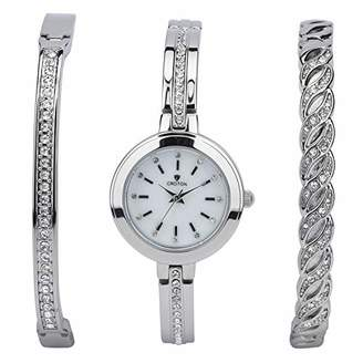 Croton Women's 'Bracelet Set' Quartz Brass Watch