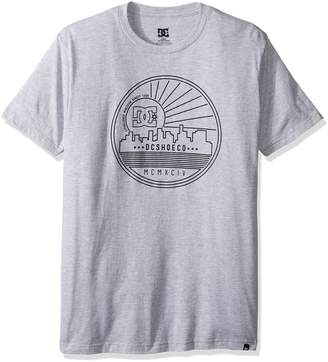 DC Men's Stroke City Short Sleeve Screen Tee, Heather Grey, 2XL