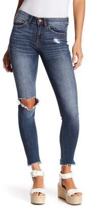 SP Black Mid Rise Destroyed Knee Skinny Jeans