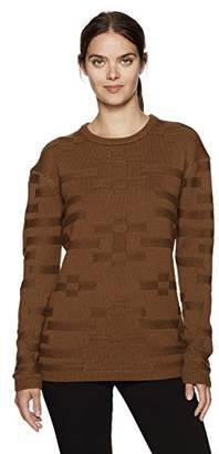 Pendleton Women's Merino Tonal Textured Crew Sweater