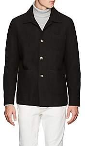 Eleventy Men's Boiled Wool Shirt Jacket - Dk. Green