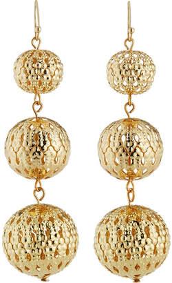 Kenneth Jay Lane Golden Triple Drop Earrings