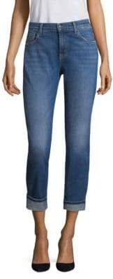 J Brand Johnny Mid-Rise Medium Wash Boyfriend Jeans