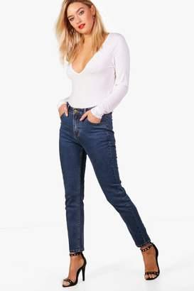boohoo Mid Rise Straight Leg Jeans