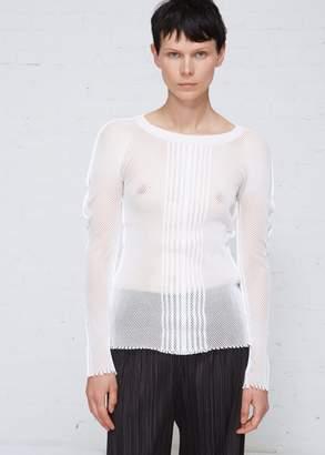 Issey Miyake Mesh Long Sleeve Top