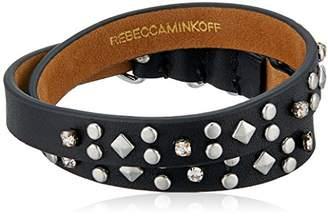 Rebecca Minkoff Studded Double Leather Wrap Bracelet