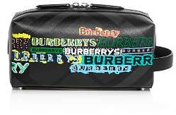 Burberry Greenford Tag Print London Check Travel Pouch