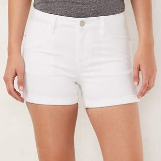 Lauren Conrad Women's Cuffed Jean Shorts