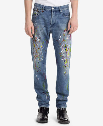 Calvin Klein Jeans Men's Iconic Slim-Fit Paint-Splatter Jeans