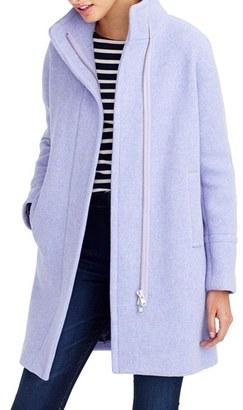 Petite Women's J.crew Stadium Cloth Cocoon Coat $262.49 thestylecure.com