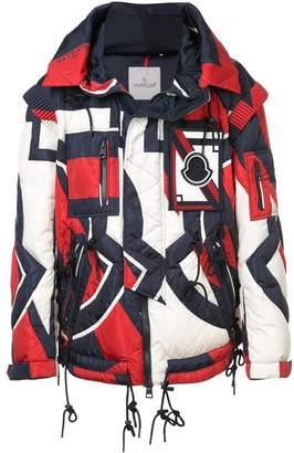 Moncler colour-block zipped jacket
