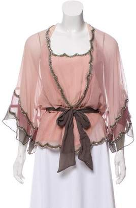 Temperley London Silk Embellished Blouse