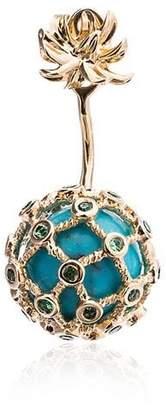 Leon Yvonne Turquoise Mini Pineapple Gold Earring