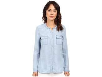 Splendid Oroya Indigo Railroad Shirt Women's Clothing