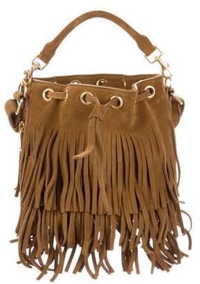 Saint Laurent Suede Emmanuelle Bucket Bag