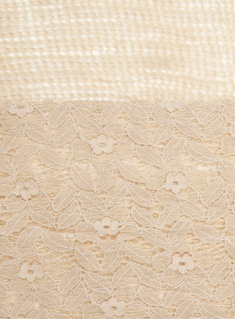 Dorothy Perkins Nude lace panel knitted snood
