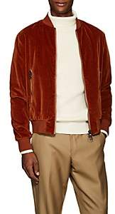 Barena Venezia Men's Velvet Bomber Jacket - Orange