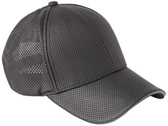 Athleta Perforated Faux Leather Baseball Cap