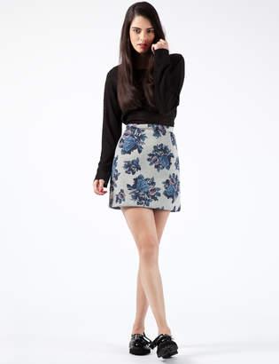 MSGM Grey Floral Gonna Skirt