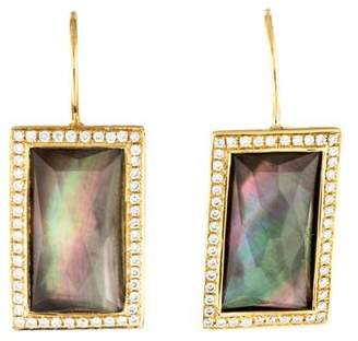 Ippolita 18K Diamond, Mother of Pearl & Quartz Drop Earrings