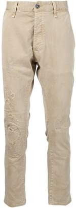 Denham Jeans ダメージ ストレートパンツ