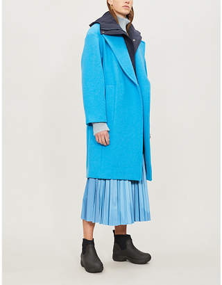 Sportmax Livigno layered wool and cashmere-blend coat