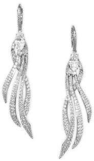 Adriana Orsini Lush Pave Drop Earrings