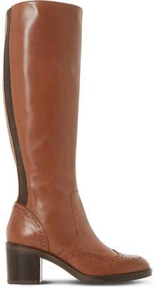 Dune Black Tilbrey leather knee-high boots