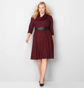 Avenue Spacedye Dress with Infinity Scarf