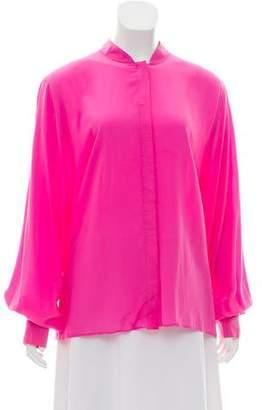 Rachel Zoe Silk Button-Up Top