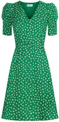 Claudie Pierlot Floral Cotton Mini Dress
