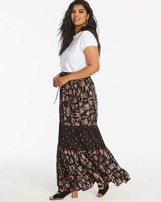 Fashion World Print Tiered Maxi Skirt