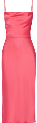 Jason Wu - Crepe De Chine Midi Dress - Fuchsia $1,695 thestylecure.com