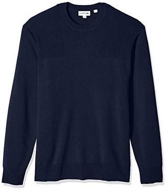 Lacoste Men's Long Sleeve Motion Wool Crew Neck Sweater