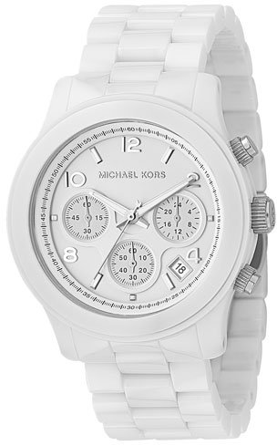 Michael Kors White Oversized Ceramic Watch